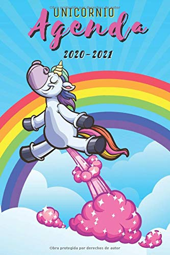 agenda escolar unicornio 2020-2021: agenda 2020 2021 semana vista, Septiembre 2020 a Sep 2021, calendario, planificador semanal a5, Colegio, secundaria, estudiante