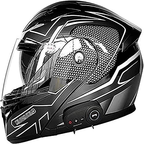 Casco de Moto Casco de Moto Ligero Certificado por Dot/ECE para Adultos con Bluetooth, Hombres y Mujeres jóvenes