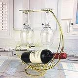 WSJ - Botellero de metal para vino