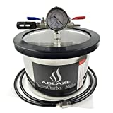 ABLAZE 1.5 Gallon Stainless Steel Vacuum Chamber Perfect for Stabilizing Wood, Degassing Silicones, Epoxies and Essential Oils