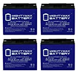 Mighty Max Battery 12V 18AH Gel Battery Replaces E-Wheel EW-36 Mobility Scooter - 4 Pack Brand Product