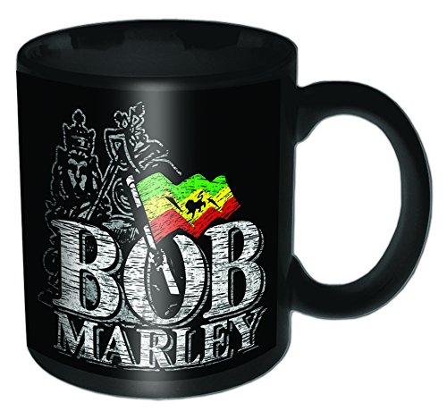 Bob Marley - Distressed Logo Black Mug - Tasse