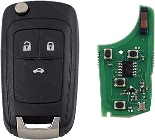Autoschlüssel Schlüssel Funk Fernbedienung Klappschlüssel 3 Tasten 433 MHz Sender + ID46 Transponder passend für Opel Adam Astra Corsa Insignia Meriva Omega Tigra Vectra