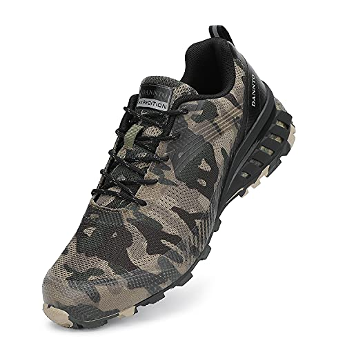 Dannto Men's Trail Running Shoes Outdoor Hiking Sneakers Walking Trekking Cross Training Camouflage,44,Size 11