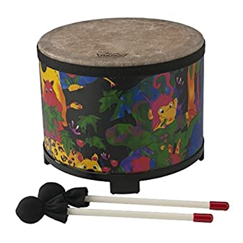 Remo KD-5080-01 Kids Percussion Floor Tom Drum - Fabric Rain Forest 10