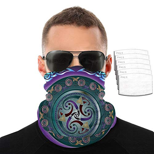 Celtic Wicca Irish Wiccan 3d Multifunctional Cloth Scarf Headwear Balaclava Face Masks Bandana Neck Gaiter With 2 Filters