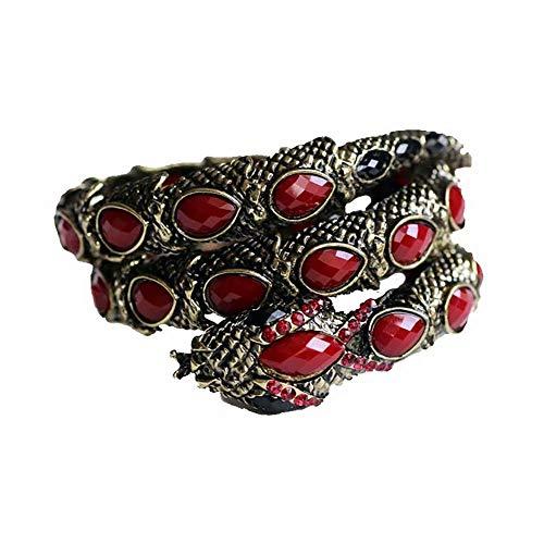 Top WH Sexy Snake Punk Kristall Armband, Crystal Stretch Snake Armband für Frauen Art Deco Snake Armreif