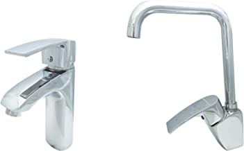 Mixer Set from Clever - 2 Pieces (Basin - High Swivel Kitchen Basin) Abydos Model