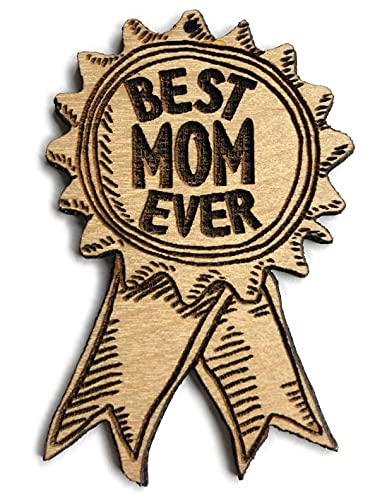 Best Mom Ever Award Ribbon Ornament   Cute Mother s Day Gifts for Mom Wood Rear View Mirror Hanging Holiday Decoration