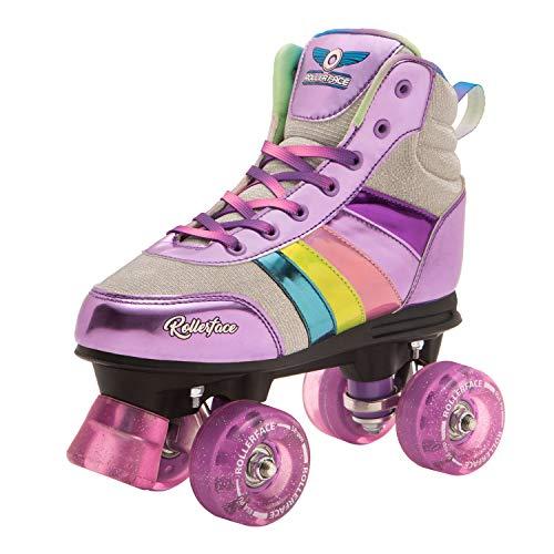 Rollerface HipSkates Glitter Patines 4 Ruedas, 25, Pack of 1