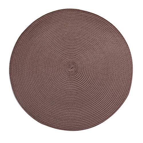 4 stuks placemats, rond, van katoen, antislip, wasbaar, hittebestendig, 38 cm 38cm 01
