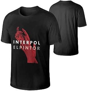 Men Interpol El Pintor Music Band Short Sleeves Tee Gift Black