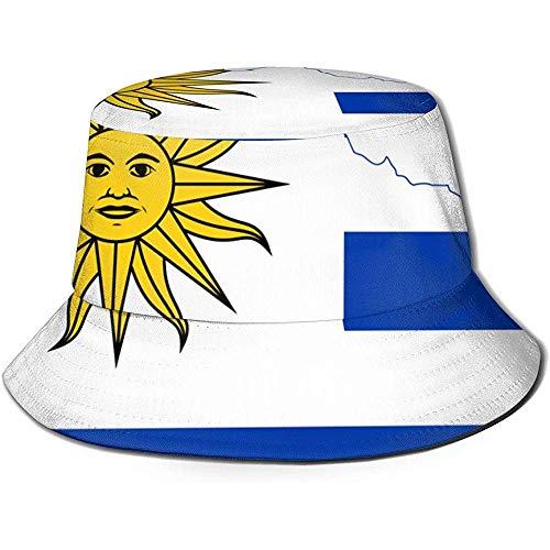 Mapa de la Bandera de Uruguay Impreso Sombrero de Sol del Cubo de Pescador, Funky Junque Bucket Caps