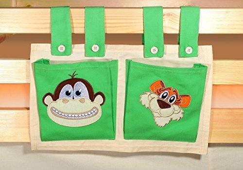 Stofftasche Seitentasche SAFARI für Hochbett Spielbett Etagenbett Kinderbett