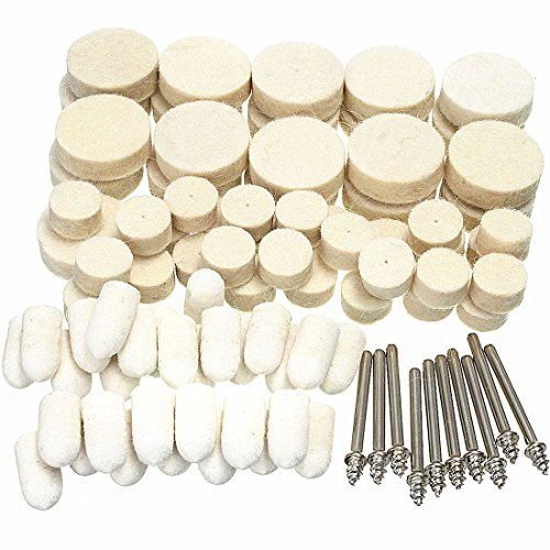 Felt Polishing Buffing Wheels Pad Clean Wheels Point Grinding Bits Rotary Tool Soft Polishing Buffing Wheel 88Pcs