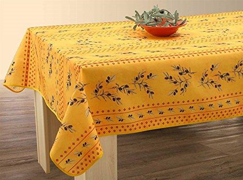 Abwaschbare Tischdecke gelb-rot Oliven, ca. 300x150 cm, Antitache, Provence-Tischdecke