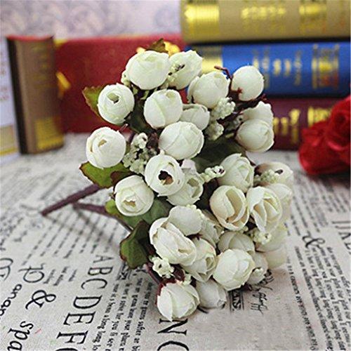Fleurs artificuelles Display08 - Lot de 15 fleurs - Roses - Fleurs pour mariage