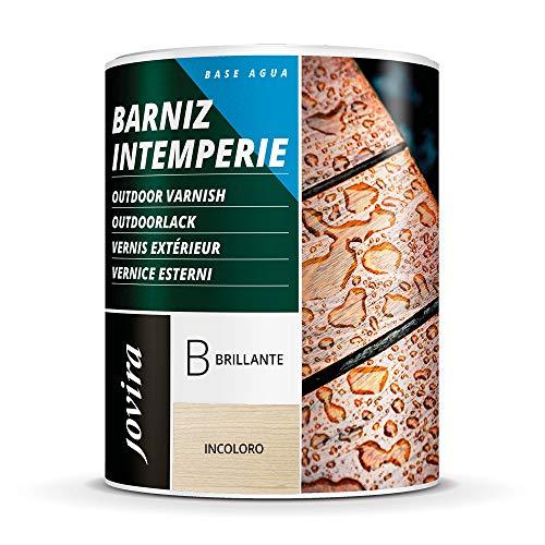 BARNIZ INTEMPERIE AL AGUA Para el cuidado y la decoración de maderas en exterior. (750 ml, BRILLANTE)