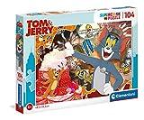 Clementoni - Tom y Jerry Puzzle 104 Piezas - 06627516