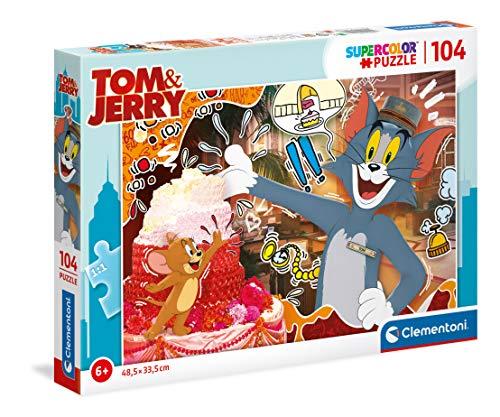 Clementoni Tom and Jerry Rompecabezas de 104 Piezas – TomandJerry, Multicolor (27516)