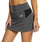 MEETYOO Mujer Falda Cortas Tennis Skirt Aesthetic Golf Falda para Deporte Corriendo Fitness
