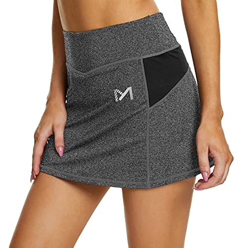 MEETYOO Donna Tennis Gonna Pantalone Vita Alta Skirts con Tasca Sport Golf Fitness