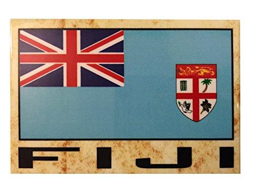 Kühlschrankmagnet, Flagge Asien & Afrika, Land: Fidschi.