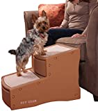 Pet Gear Easy Step II Pet Stairs, 2 Step for Cats/Dogs up to 150 Pounds, Portable, Removable Washable Carpet Tread, 2-Step, Cocoa