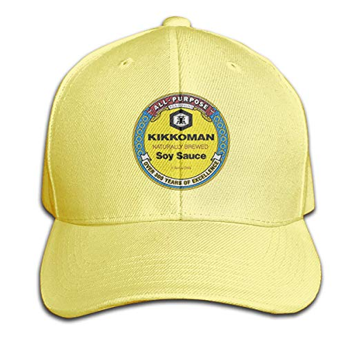 AASPOZ All-Purpose-Kikkoman-Soy-Sauce Vintage Baseball Cap Denim Hat Adjustable Black