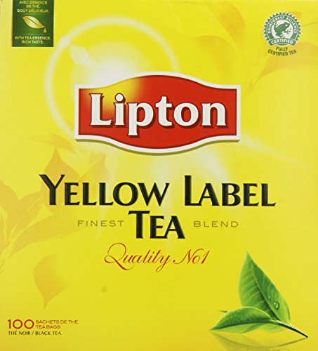 Lipton Yellow Label Quality No. 1 Finest Tea Blend 100 Btl. 200g - Feinster Schwarzer Tee der Premiumklasse