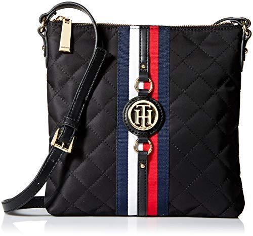 Tommy Hilfiger Damen Crossbody Bag for Women Jaden Umhängetasche, Schwarze Steppdecke, Einheitsgröße