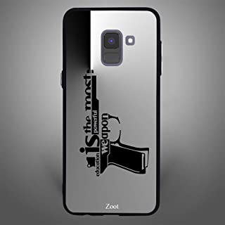 Samsung Galaxy A8 Plus Education is the most powerful weapon, Zoot Designer Phone Covers