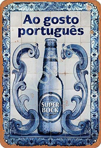 Volly Ao Gosto Portugues Super Bock Retro verhindern Blendung klassische schicke Spaß Kunst Mode Metall Wanddekoration Blechschild geeignet für Küche Wohnzimmer Bar Cafe Dekoration