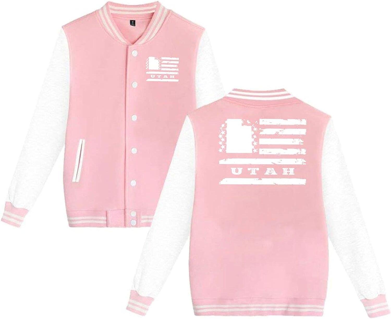 N latest A Utah State USA Flag Uniform Unisex Hoodie Baseball Very popular Jacket