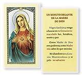 Gifts by Lulee, LLC Rezo De Un Minuto Delante De El Sagrado Corazon De Maria Tarjeta Laminada Bendecida Padre Francisco