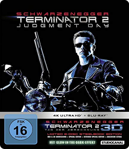 Terminator 2 Limited 3 Disc Steelbook Edition 4k Ultra Hd Alemania Blu Ray