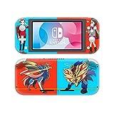 Nintendo Switch Lite 任天堂スイッチ ライト スキンシール ポケモン ポケットモンスター ソード シールド 剣 盾 ザシアン ザマゼンタ 本体用&コントローラー用 保護シール ステッカー グッズ 同人