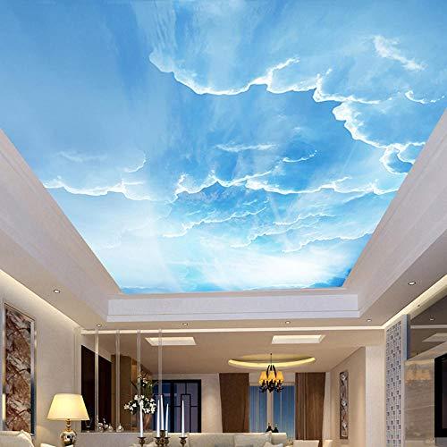 Msrahves Paredes Decoración Hogar Cielo azul nubes blancas sol paisaje. 400X280CM Fotomurales 3D Foto-Mural Simplicidad Moderna Sala De Estar Dormitorio Oficina Tv Fondo Pared Decoración Fotomural Vin