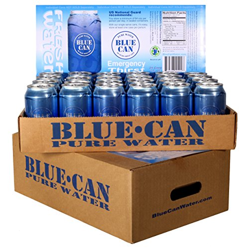 Blue Can 50 Year Shelf Life Water