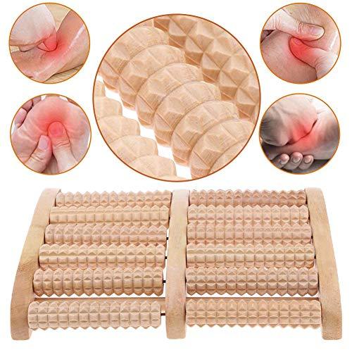 BESTZY Massager à pieds roulés en bois Outils de réflexologie pour la douleur au pied,le stress Thérapie acupression Réflexologie outil de massage des...