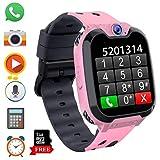 Smartwatch para Niños con Juegos MP3 - Reloj Inteligente Pulsera con 2 vías Llamada Música Despertador 7 Juegos Cámara de Infantil Reloj Digital para Juventud Niña de 3 a 12 años (X9 Juego MP3-Rosa)