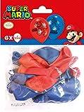 Amscan 9901546 - Latexballons Super Mario, 6 Stück, Luftballons