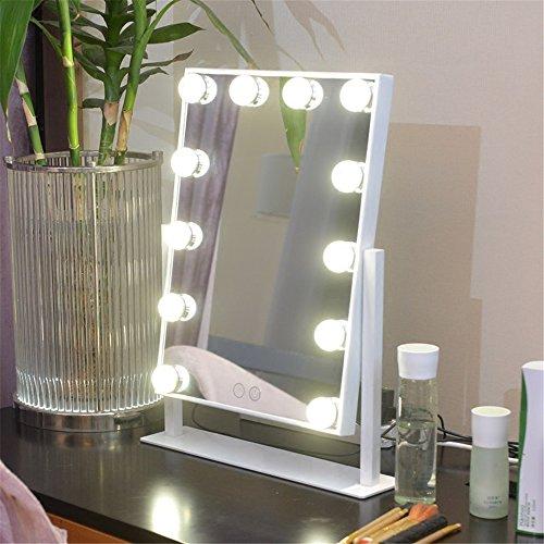 Espejo de tocador con lámpara de espejo de maquillaje - Espejo cosmético...