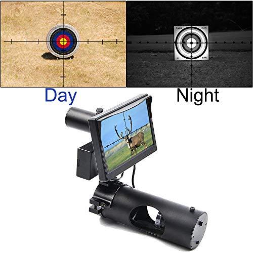 JASHKE Digitales Nachtsichtgerät Integrierte IR-Taschenlampe für die Jagd mit Luftzielfernrohr mit HD-Kamera und tragbarem 5-Zoll-Display