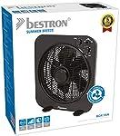 Bestron Ventilateur box oscillant sur socle, Hauteur : 42,7 cm, Ø 30 cm, 40 W, Noir #2