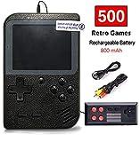 Flybiz Handheld Spielkonsole, Handheld Konsole 3 Zoll Gameboy FC System 500 Retro Spielkonsole...