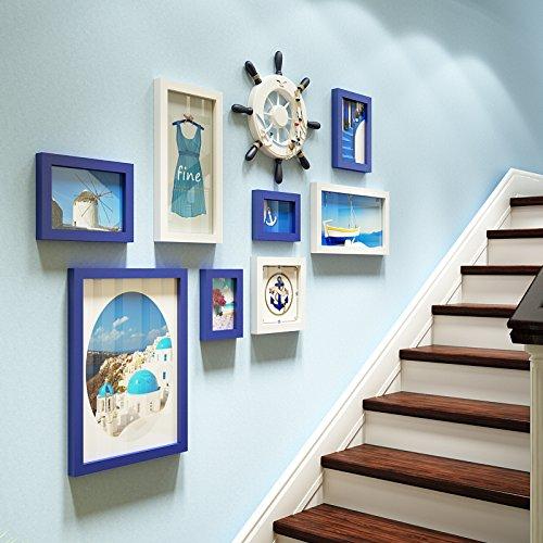 Die Treppe Wand Foto Wand Foto Galerie Die Galerie Wand Foto Frame eine Kombination von Blau und Weiß 2-farbig 8 Box + Boot Ruder