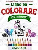 Libro da Colorare per Bambini: impara l'alfabeto dalla A alla Z colorando graziosi animaletti