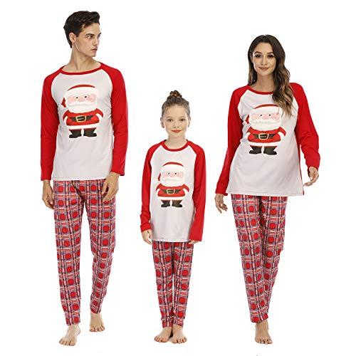 Vertvie Unisex Weihnachten Schlafanzug Pyjama Set Weihnachtspyjamas Weihnachten Schlafanzüge Nachtwäsche Christmas Hausanzug