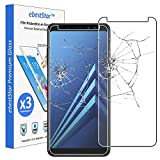 ebestStar - kompatibel mit Samsung Galaxy A8 2018 Panzerglas x3 SM-A530F Schutzfolie Glas, Schutzglas Bildschirmschutz, Bildschirmschutzfolie 9H gehärtes Glas [Phone: 149.2 x 70.6 x 8.4mm, 5.6'']